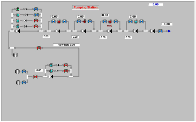 Cassandra program interface (pumping station, computational mode)